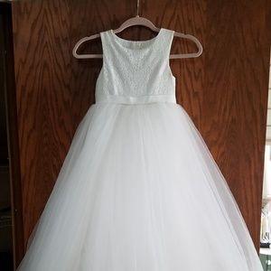 Davids Bridal Heart-Back Flower Girl Dress